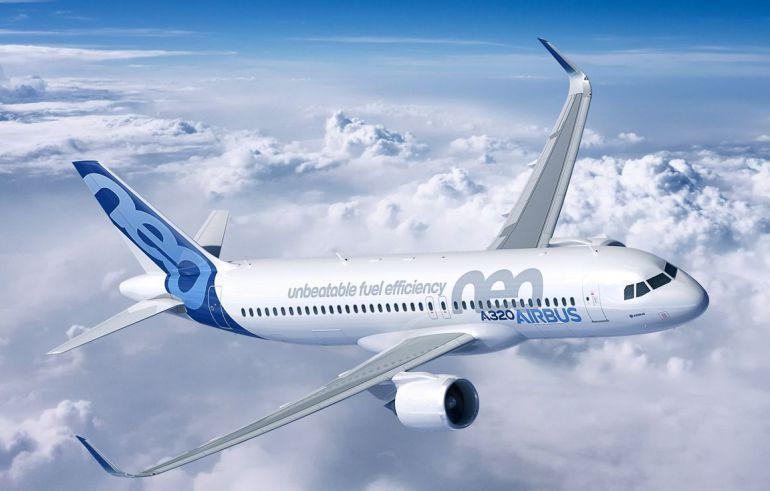 El modelo A320neo en vuelo