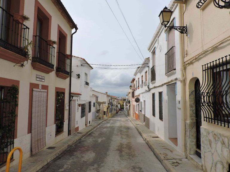 Fotografía de la Calle Fontanella, en Dénia.