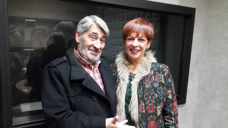 Ernesto Barrutia e Isa González, integrantes del grupo teatral 'La Novena'