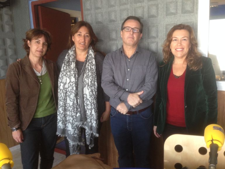 Ángeles Martín, Belén Alvite, Ernesto Olariaga y Pepita Costa