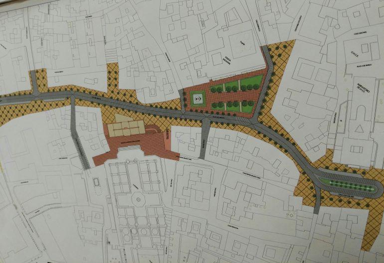 Imagen del proyecto de reordenación del eje entre plaza del Arroyo y plaza Plateros