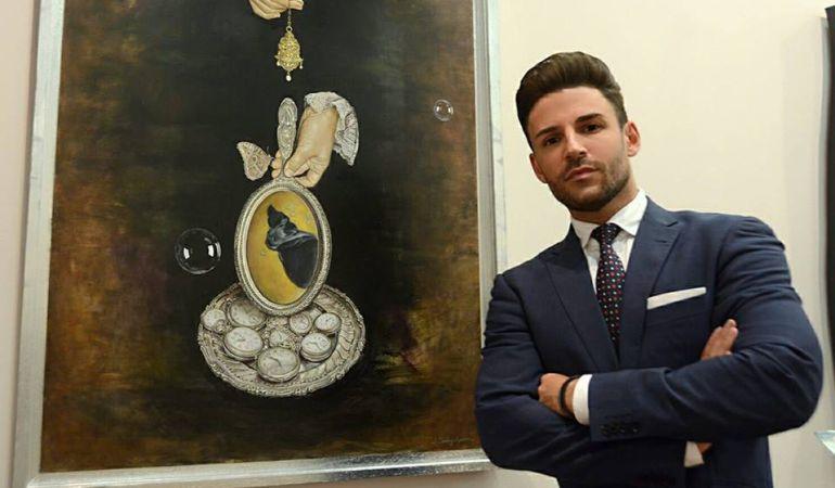 El pintor coriano Jonathan Sánchez Aguilera