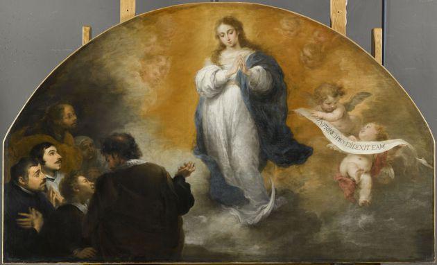 Réplica de 'La Inmaculada concepción y el pueblo sevillano'