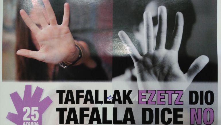 Cartel del Día contra la violencia hacia las mujeres en Tafalla