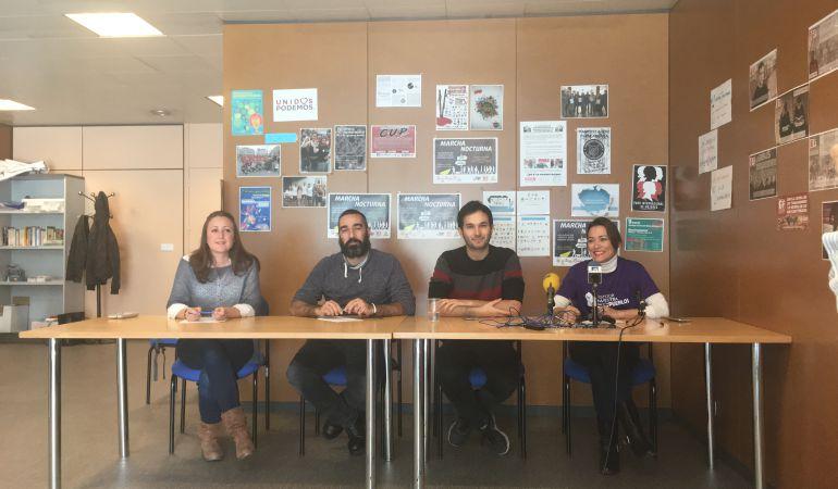 El diputado de la Comunidad, Miguel Ardanuy, ha comparecido junto a varios miembros de Ganar Fuenlabrada