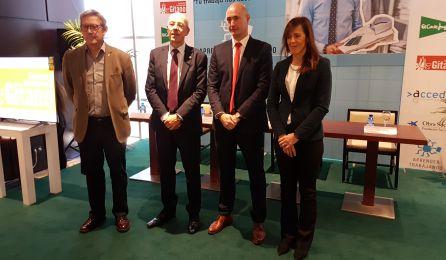 El presidente de Secretariado Gitano, el director de El Corte Inglés Albacete, el director general de Acción Social y la concejal de Acción Social