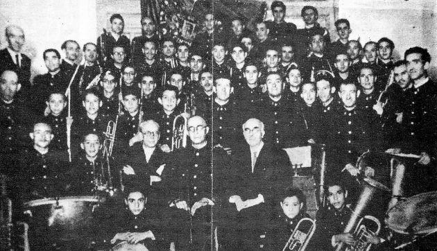 Banda de Música de Cuenca en 1945.