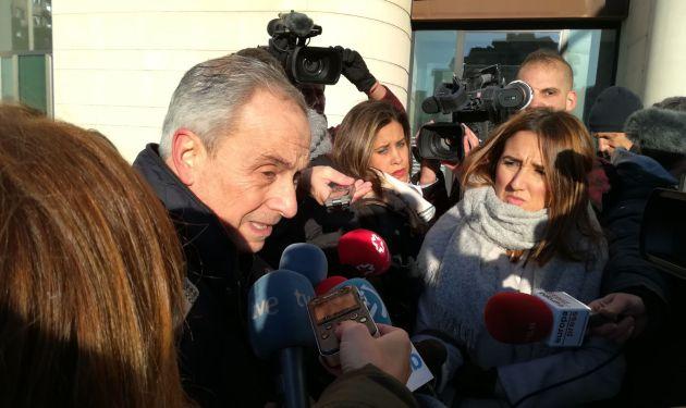 Carlos Bacaicoa, abogado de la víctima, esta mañana