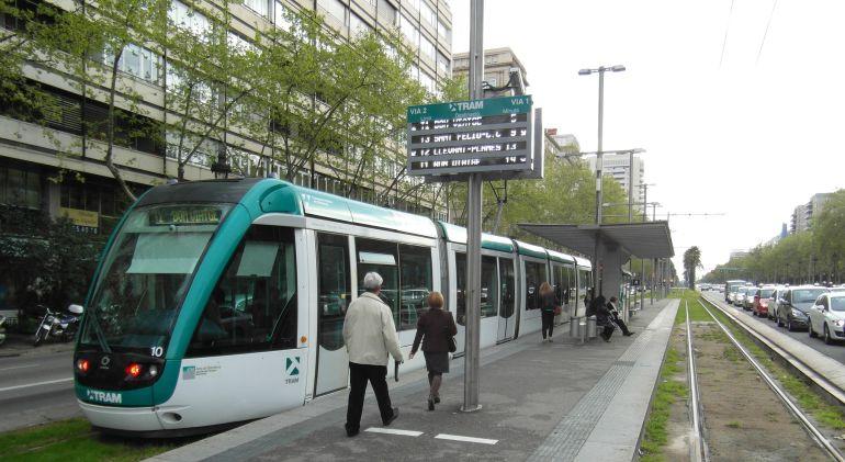El trambaix a la Diagonal de Barcelona