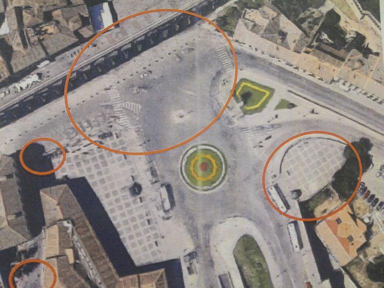 Plano de las obras que se acometerán en la Plaza de Artillería