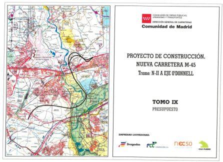 Imagen del Proyecto de Construcción del tramo I de la M-45