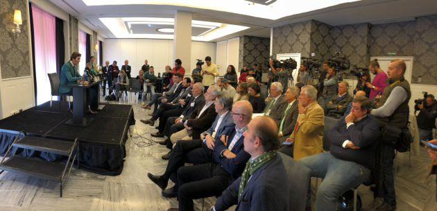 La rueda de prensa de Padilla ha sido multitudinaria