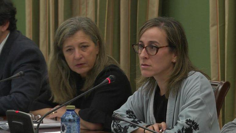 Teresa Pedrosa y Ethel Vázquez en la comisión de seguimiento de la Plisan.