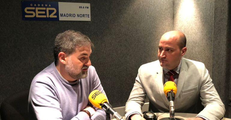 El alcalde de Colmenar Viejo, Jorge García en la entrevista con Nacho López Llandres en Hoy por Hoy