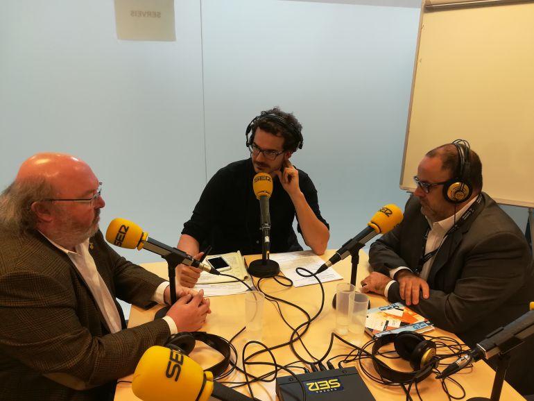L'alcalde,Jordi Soler, Jordi Corominas i el regidor de promoció econòmica de Calonge, Arturo Prades.