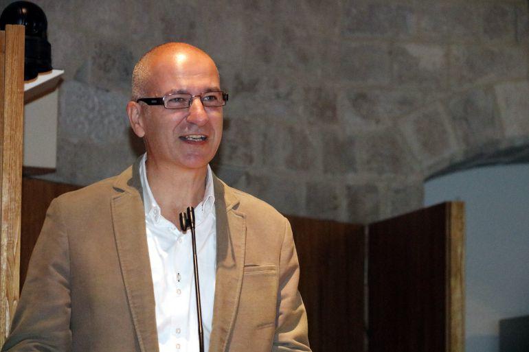 Quim Salvi durant el primer discurs com a nou rector de la UdG