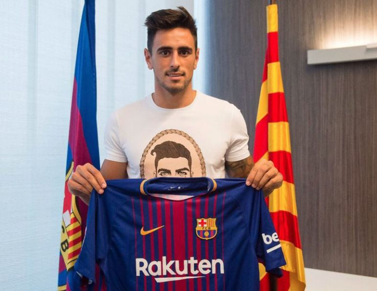 David Costas el día de su presentación como jugador del Barcça B