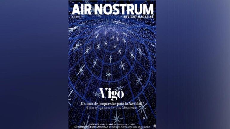 La navidad viguesa, protagoista de la revista In Flight, de Air Nostrum