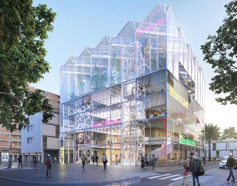 Un edifici transparent substituirà l'antic cinema Pere IV