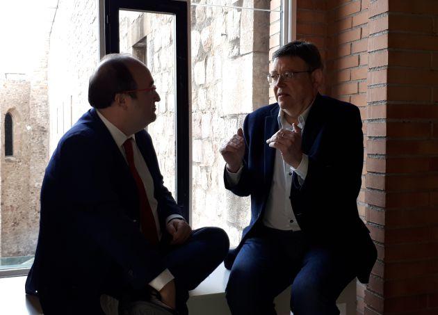 Ximo Puig y Miquel Iceta en Barcelona