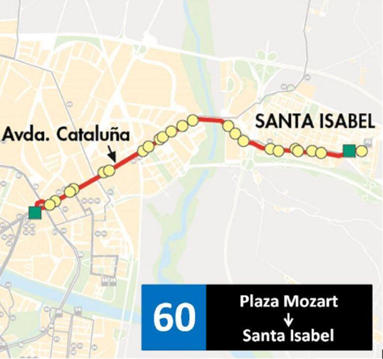 Zaragoza estrena la lnea 60 de bus Radio Zaragoza Cadena SER