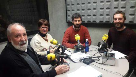 De izquierda a derecha: Arcadio Benítez (PSE-EE), María Jesús Agirre (Irabazi), Josu Mendikute (EAJ-PNV) y Gorka Errasti (EH Bildu)