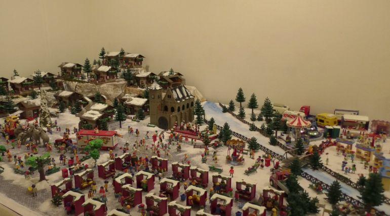Escena Pueblo navideño con Playmobils