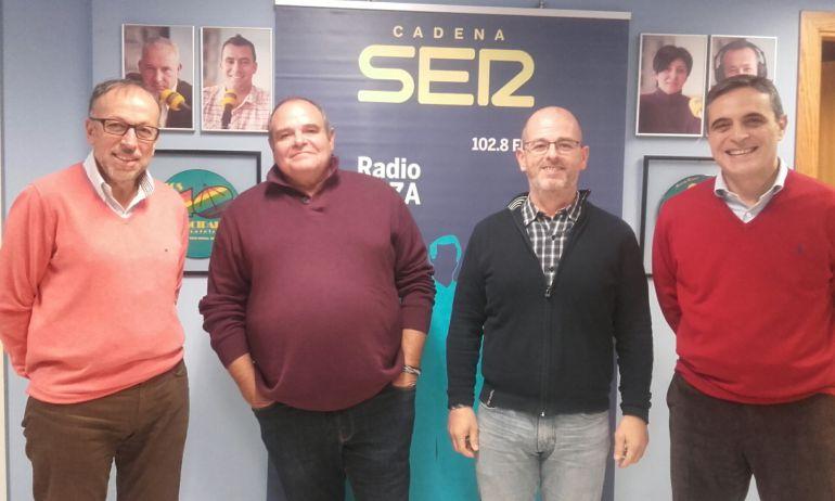 Joan Serra, Aitor Morrás, Alfonso Molina y José Vicente Marí Bosó
