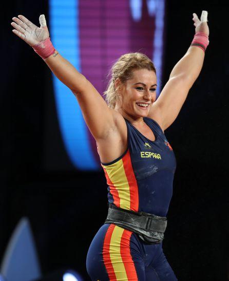 Lidia Valentin Perez Celebra Su Victoría En El Mundial De Anaheim,  California