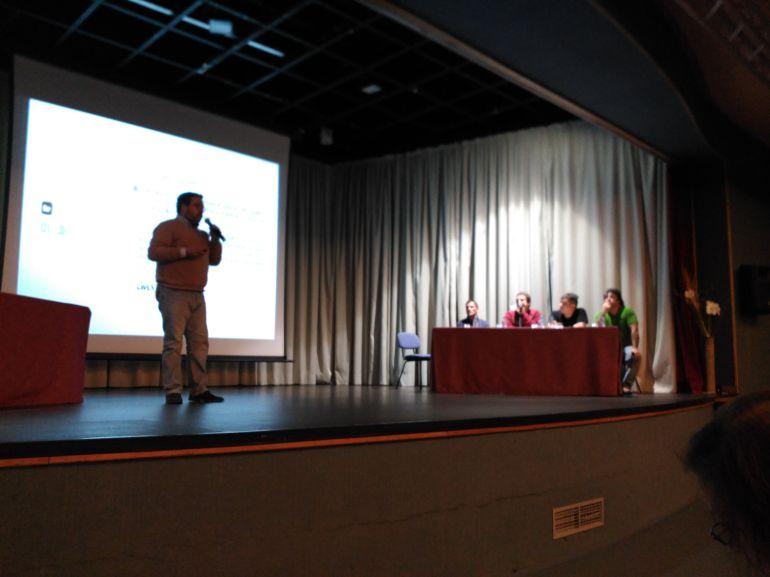 Momento de la presentación de El Hueco, entidad soriana inspiradora de El Puemte en la Ribera