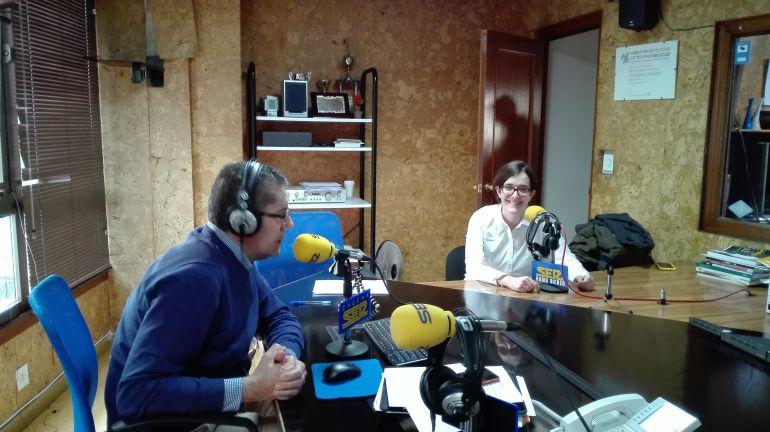 Ángela Bernardo, en su última visita a Radio Bierzo