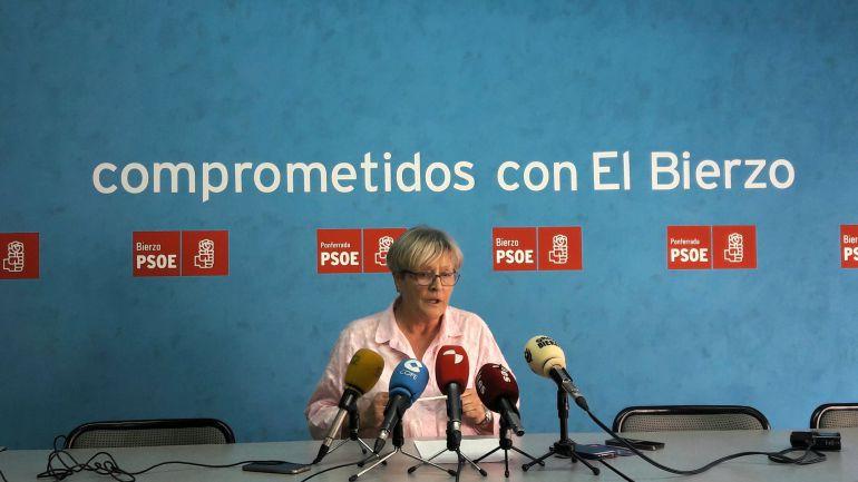 Secretaria de la agrupación local de Ponferrada, Rita Prada