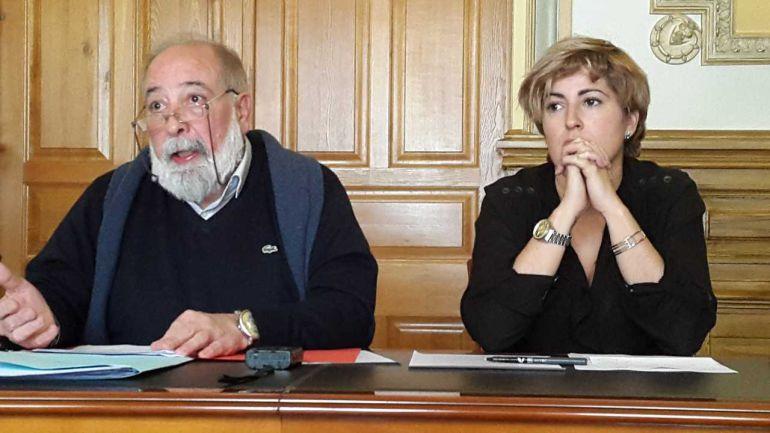Arcadio Benitez y Ana Tellería, concejales de Obras y Hacienda, respectivamente