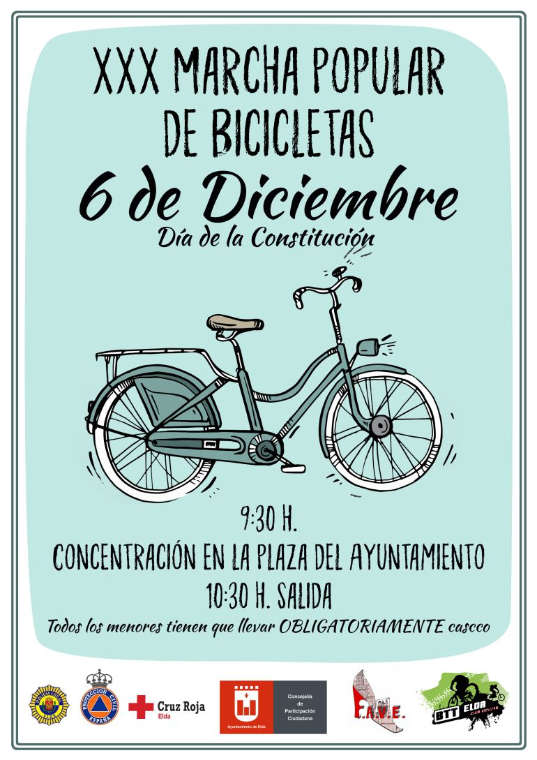 XXX Marcha de Bicicletas en Elda por la Constitución
