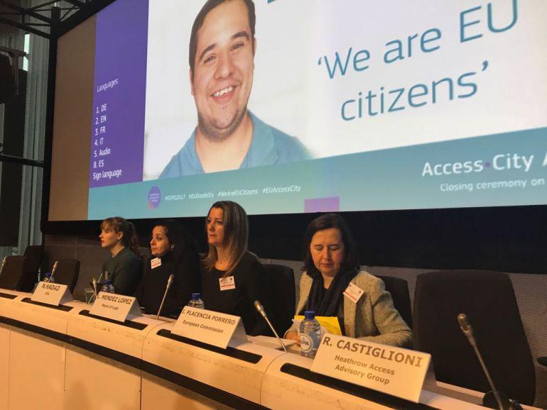 Lara Méndez, alcaldesa de Lugo, este martes en Bruselas