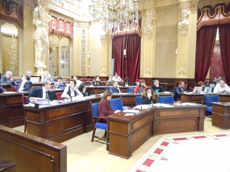 Momento del debate de la ley de Urbanismo en el Parlament.