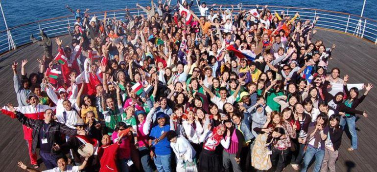 Jóvenes participantes en el Barco de la Juventud Mundial