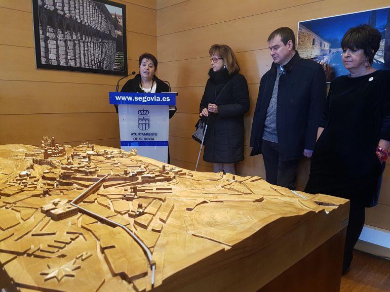 Maqueta Tiflológica de Segovia que podemos visitar en la Casa de la Moneda.