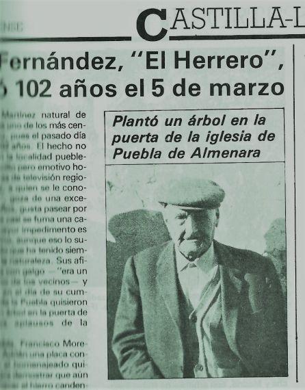 Artículo sobre Adrián, el Herrero, en Gaceta Conquense.