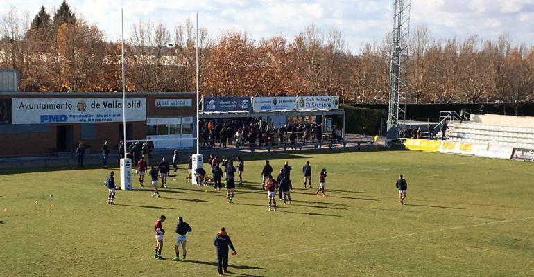 El Sanitas Alcobendas Rugby en su último encuentro en Valladolid