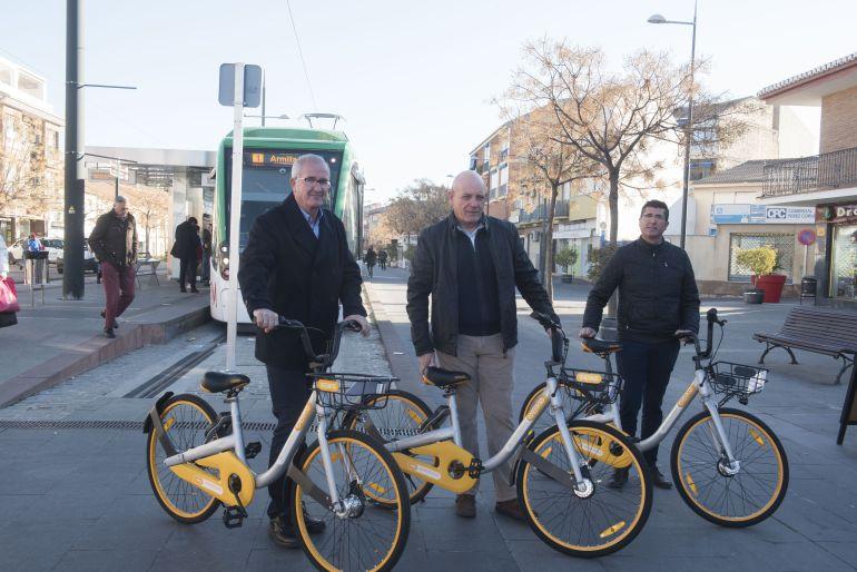 Presentación del servicio de alquiler de bicicletas en Armilla (Granada)