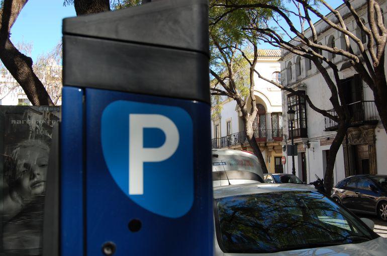 Imagen de un dispensador de tickets de la zona ora del centro de Jerez