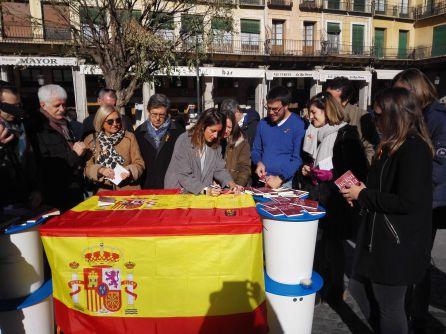 ACto de Nuevas Generaciones del PP de Segovia con motivo de los 39 años de la Carta Magna.