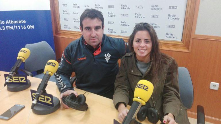 Carlos del Valle y Sara Navarro en Radio Albacete