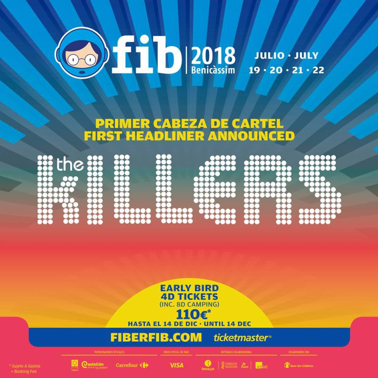 The Killers, primer cabeza de cartel en el FIB 2018