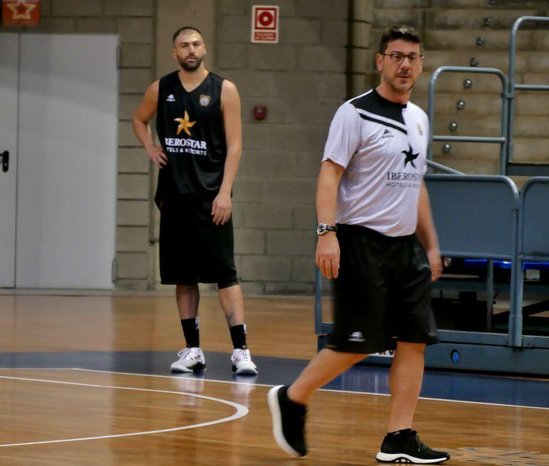 Vasileadis en su primera sesión como jugador a las órdenes de Katsikaris