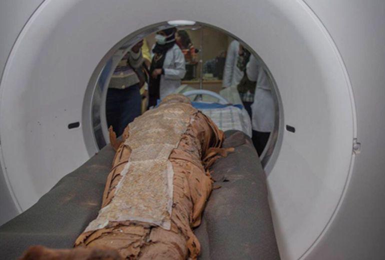 TAC a una de mas momias egipcias