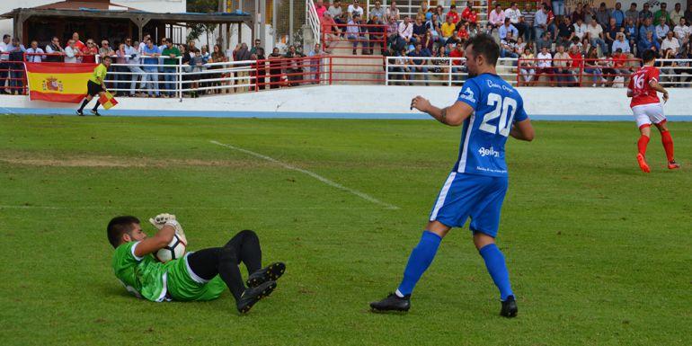Álex Expósito durante un partido esta temporada