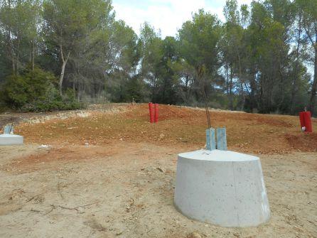Base de la última torre, 14, cerca de Son Puig.