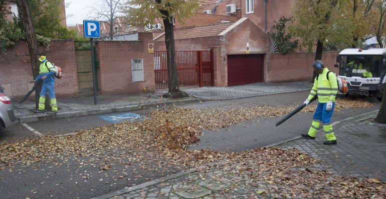 Tres Cantos refuerza el servicio de limpieza para recoger las hojas